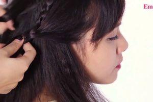 Những kiểu tóc tết cho nàng tóc ngang vai dễ làm tại nhà