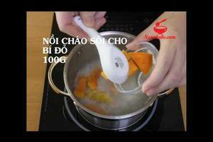 Nấu Cho Bé - Hướng Dẫn Cách Nấu Cháo Cá Hồi Bí Đỏ Cho Bé