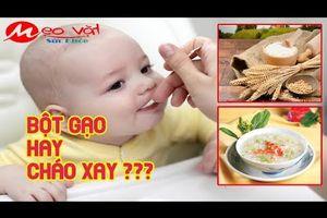Trẻ 6 Tháng Tuổi Ăn Dặm Bột Gạo Hay Cháo Xay Thì Tốt Hơn ?
