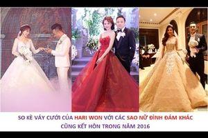 Đọ Mức Lộng Lẫy Của Những Bộ Váy Cưới Các Sao Việt Đình Đám Năm 2016