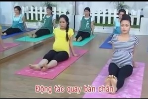 Những động tác thể dục tốt cho bà bầu