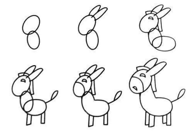 Cách vẽ hình con ngựa