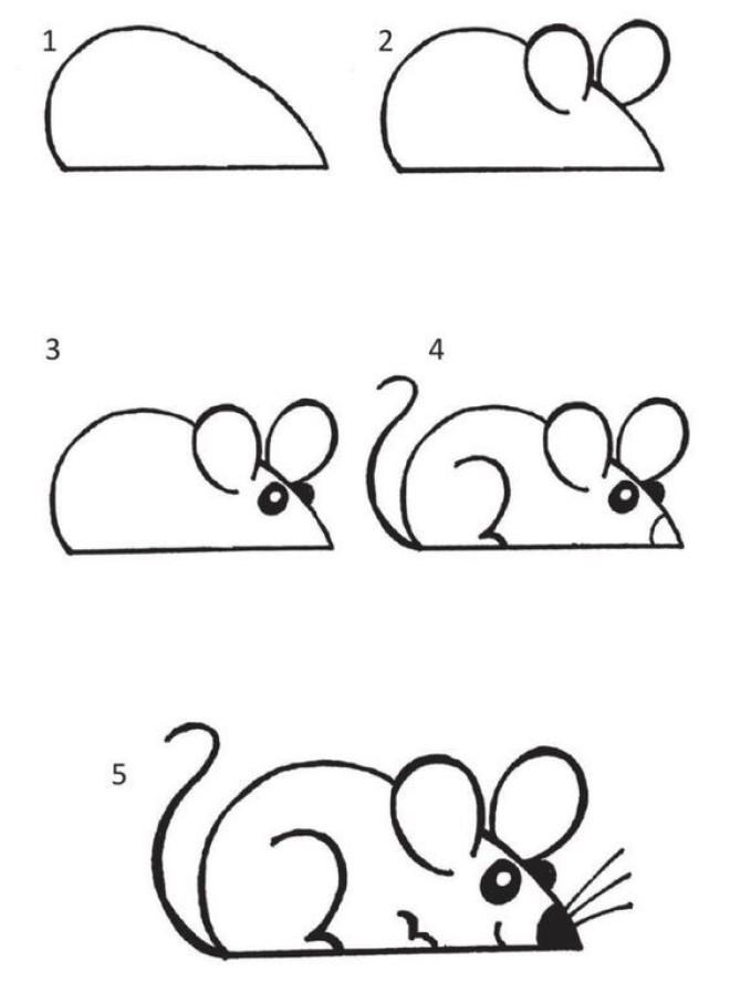 Cách vẽ hình chú chuột nhắt