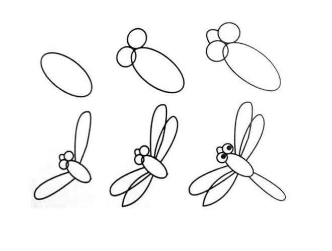 Vẽ hình con chuồn chuồn