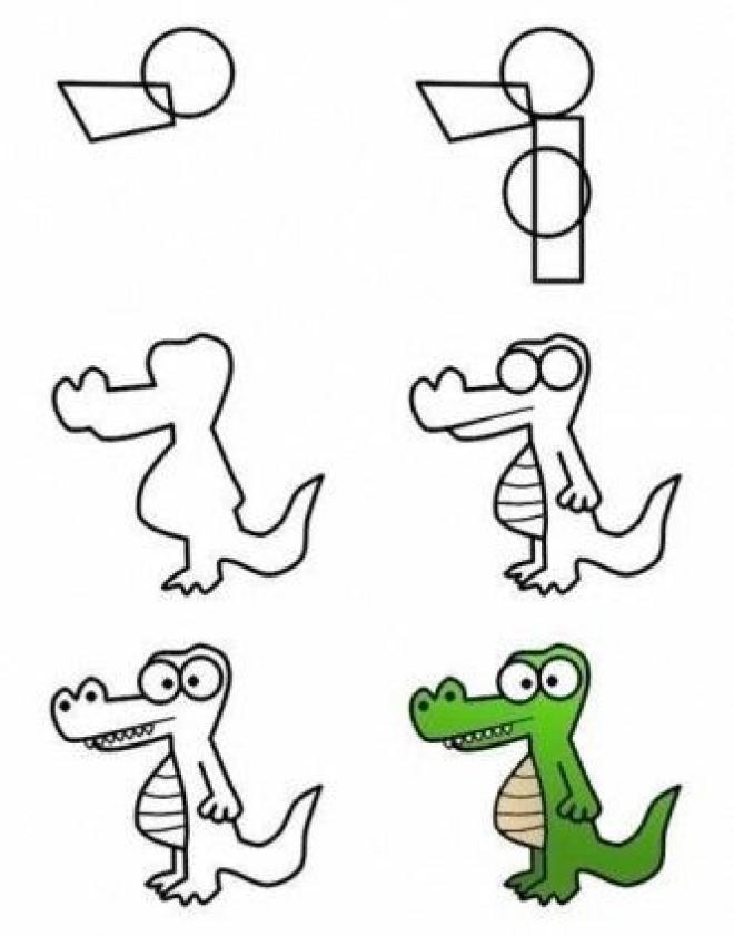 Cách vẽ hình khủng long