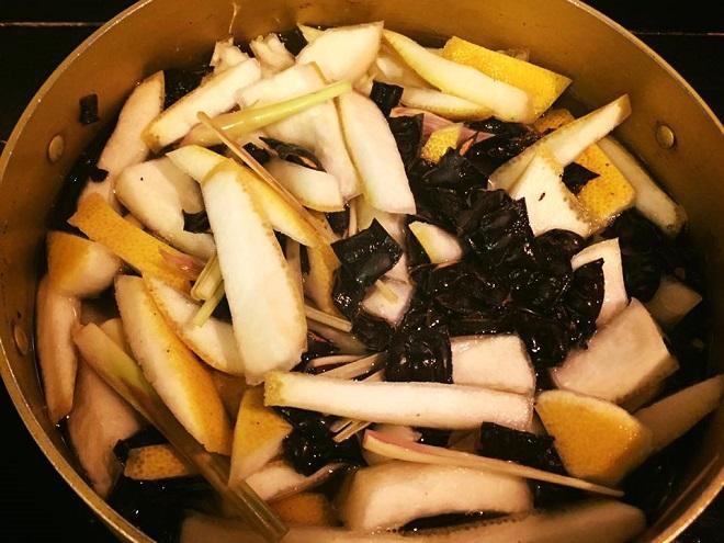 nấu vỏ trái cây