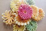 cách làm mứt dừa hình hoa cúc ngũ sắc